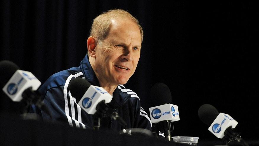 Michigan head coach John Beilein speaks to the media during a news conference at the Final Four of the NCAA college basketball tournament, Thursday, April 4, 2013, in Atlanta. Michigan plays Syracuse in a national semifinal on Saturday.. (AP Photo/AnnArbor.com, Melanie Maxwell) LOCAL TV OUT; LOCAL INTERNET OUT