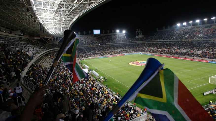 WITH STORY SOUTH AFRICA MATCH FIXING - File- Spectators attend a friendly soccer match between South Africa and Guatemala at the Peter Mokaba Stadium in Polokwane, South Africa in this file photo dated Monday May 31, 2010. The South African government announced Friday April 5, 2013, that it will set up an investigation into allegations of match-fixing in the run up to the 2010 World Cup after recent meetings with FIFA and its own national football association, to look into possible corruption in games involving the South African national team.(AP Photo)