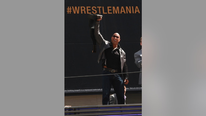 <<attends the WrestleMania 29 Press Conference>> at Radio City Music Hall on April 4, 2013 in New York City.