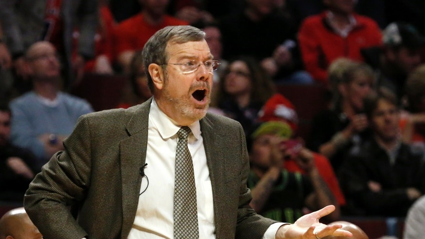 Brooklyn Nets head coach P.J. Carlesimo gestures during the second half of Game 3 of their first-round NBA basketball playoff series against the Chicago Bulls, Thursday, April 25, 2013, in Chicago. The Bulls won 79-76. (AP Photo/Charles Rex Arbogast)