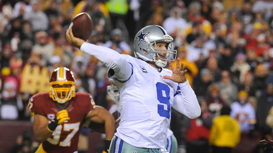 ADVANCE FOR WEEKEND EDITIONS, MAY 4-5 - FILE - In this Dec. 30, 2012 file photo, Cowboys quarterback Tony Romo throws a pass against the Washington Redskins during their NFL football game in Landover, Md. Jerry Jones first alluded to an expanded role for Romo the day the Dallas Cowboys owner and general manager signed his quarterback to a $108 million extension with more guaranteed money than Super Bowl winner Joe Flacco.  (AP Photo/Richard Lipski, File)
