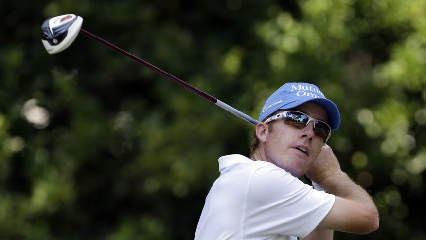 Roberto Castro hits from the 11th tee during the second round of The Players championship golf tournament at TPC Sawgrass, Friday, May 10, 2013, in Ponte Vedra Beach, Fla. (AP Photo/Gerald Herbert)