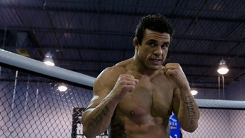 DELRAY BEACH, FL - SEPTEMBER 17:  Vitor Belfort conducts a workout at the Jaco Hybrid Training Center on September 17, 2012 in Delray Beach, Florida. Belfort will fight Jon Jones on September 22, 2012 at UFC 152 in Toronto, Canada.  (Photo by Chris Trotman/Getty Images)
