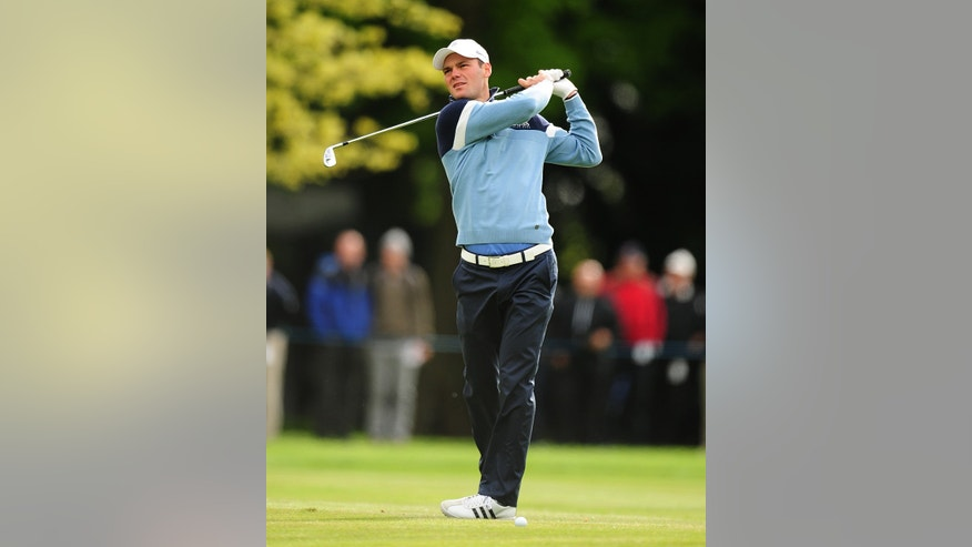 Germany's Martin Kaymer during the first day of the BMW PGA Championship at the Wentworth Club, Virginia Water, England, Thursday, May 23, 2013. (AP Photo / Adam Davy, PA )  UNITED KINGDOM OUT  PHOTOGRAPH