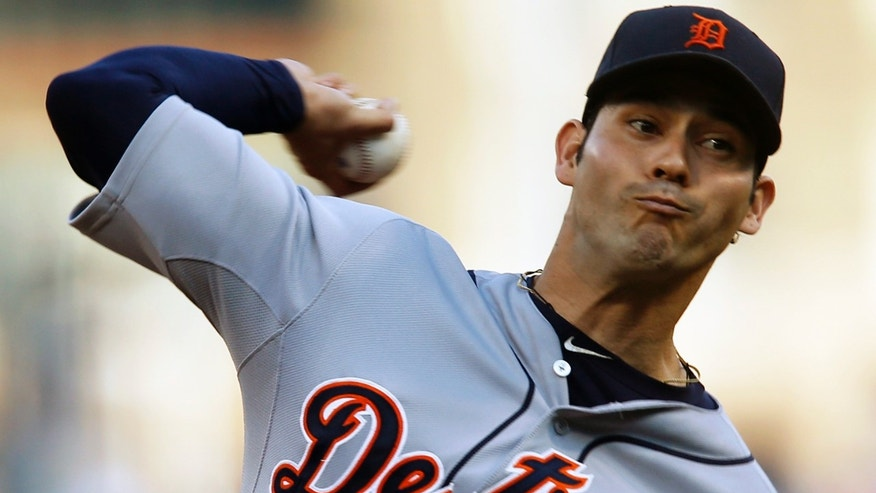 Detroit Tigers starting pitcher Anibal Sanchez throws against the Pittsburgh Pirates in the first inning of a baseball game on Wednesday, May 29, 2013, in Pittsburgh. (AP Photo/Keith Srakocic)
