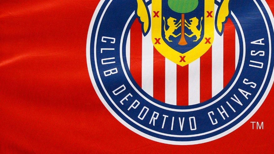 CARSON, CA - AUGUST 12: Chivas USA logo on a flag during the MLS match against Los Angeles Galaxy at The Home Depot Center on August 12, 2012 in Carson, California. The Galaxy won 4-0. (Photo by Ric Tapia/Getty Images)
