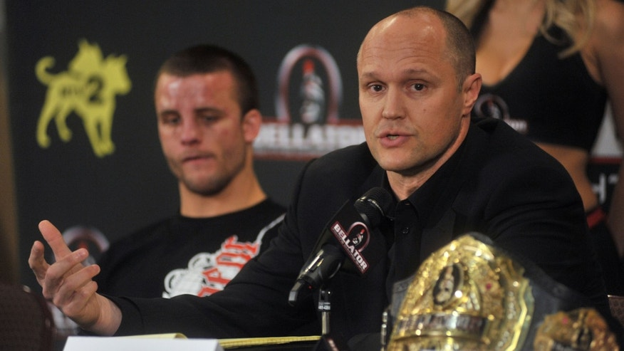 UNCASVILLE, CT - APRIL 02:  Bellator founder and CEO Bjorn Rebney attends the post fight press conference at Bellator 39 at the Mohegan Sun Arena on April 2, 2011 in Uncasville, Connecticut.  (Photo by Henry S. Dziekan III/Getty Images) *** Local Caption *** Bjorn Rebney