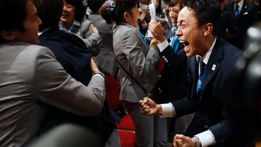 Sept. 7, 2013: Members of the Tokyo 2020 delegation celebrate after Tokyo was awarded the 2020 Olympic Games during the 125th IOC session in Buenos Aires, Argentina.