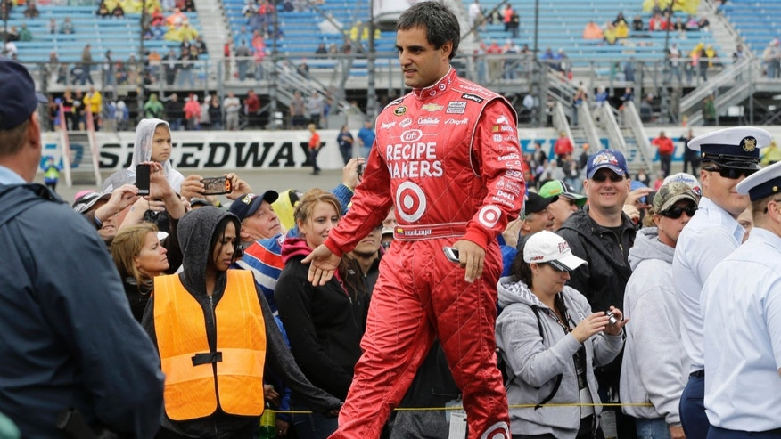 Juan Pablo Montoya, of Colombia, at Chicagoland Speedway in Joliet, Ill., Sunday, Sept. 15, 2013.