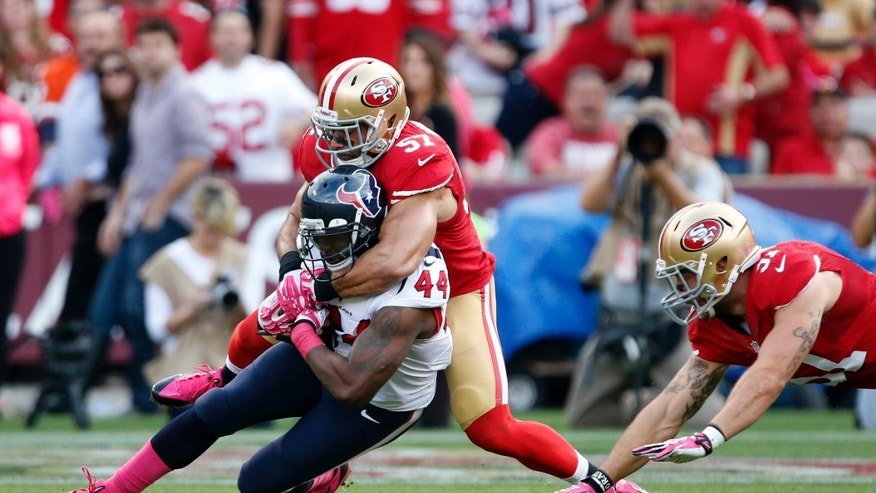 NFL Jerseys - Tramaine Brock makes two of 49ers' three interceptions against ...