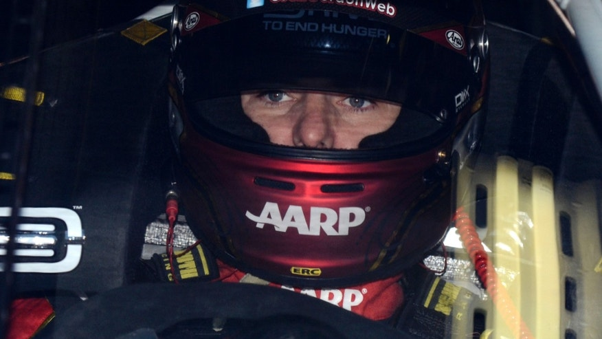 Driver Jeff Gordon prepares to practice for Sunday's NASCAR Sprint Cup series auto race at Texas Motor Speedway in Fort Worth, Texas, Saturday, Nov. 2, 2013.  (AP Photo/Larry Papke)