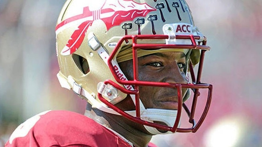 FILE: Florida State University quarterback and Heisman Trophy favorite Jameis Winston, who appears in this undated file photo, is the subject of an ongoing sexual assault investigation in Tennessee, authorities said.