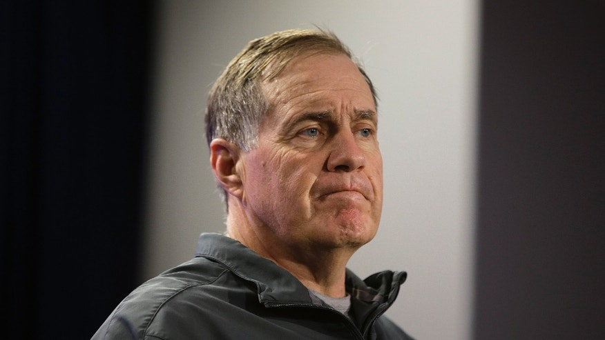 New England Patriots head coach Bill Belichick listens to a reporter's question during a media availability at the NFL football team's facility in Foxborough, Mass., Wednesday, Dec. 11, 2013. The Patriots will play the Miami Dolphins in Miami,  Sunday. (AP Photo/Stephan Savoia)