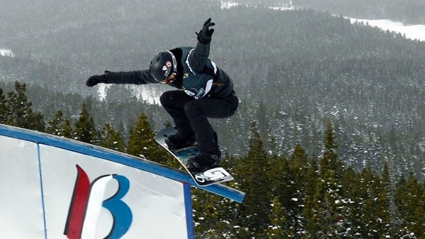 Jan 9, 2014: Breckenridge, CO, USA; Shaun White during slopestyle qualifying for the U.S. Grand Prix at Breckenridge Ski Resort.