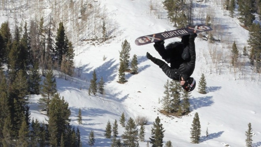 Jan 24, 2014: Two-time Olympic gold medalist Shaun White takes to the air off of a private jump built at Copper Mountain, Colo. After deciding to opt out of the Winter X Games in Aspen, Colo., earlier this week, White switched his focus to Sochi and had the large slopestyle feature with airbag landing built at Copper Mountain.