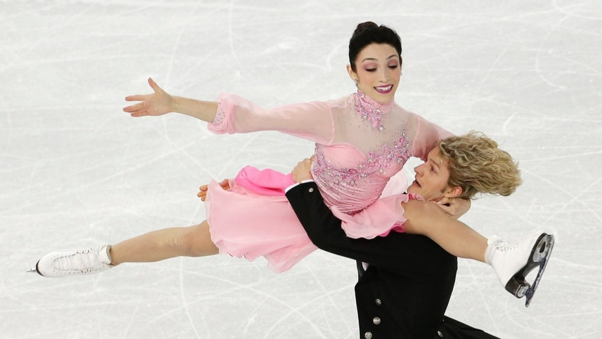 Feb. 8, 2014: Meryl Davis and Charlie White of the United States compete in the team ice dance short dance figure skating competition at the Iceberg Skating Palace during the 2014 Winter Olympics in Sochi, Russia.