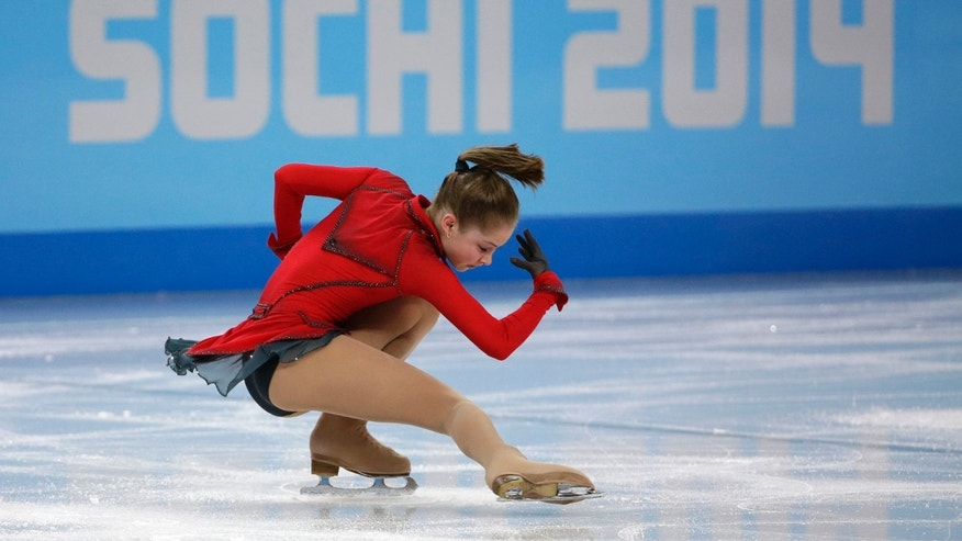 Feb. 9, 2014: Julia Lipnitskaia of Russia competes in the women's team free skate figure skating competition at the Iceberg Skating Palace during the 2014 Winter Olympics in Sochi, Russia.