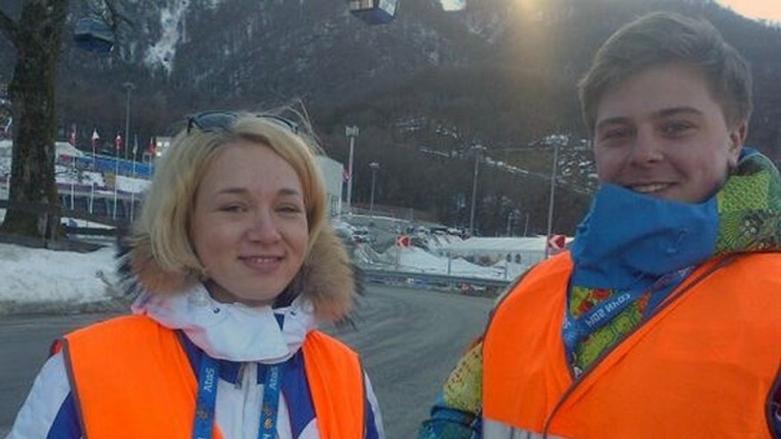 Sochi volunteers like this pair have greeted visitors warmly and been helpful. (Fox News)