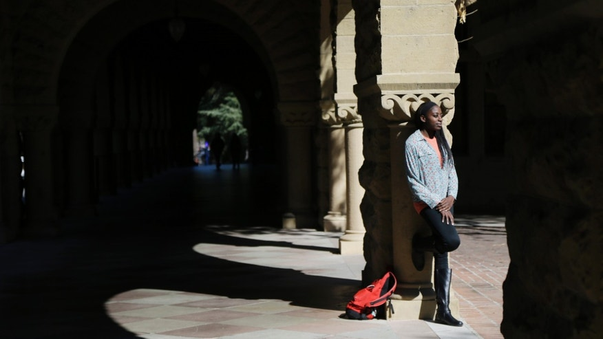 ADVANCE FOR WEEKEND EDITIONS, FEB. 22-23 - In this Feb. 19, 2014 photo, Chiney Ogwumike, a member of Stanford's NCAA college basketball team, poses for a portrait on the university's campus in Stanford, Calif. (AP Photo/Marcio Jose Sanchez)