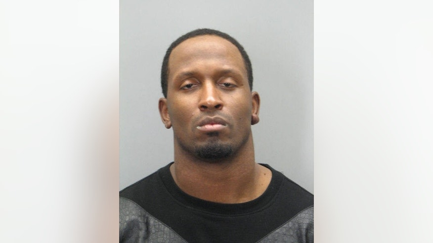 This handout police mugshot provided by The Fairfax County, Va. Police Department shows Washington Redskins tight end Fred Davis. Authorities in northern Virginia say Davis has been charged with driving while intoxicated a day after he was suspended for an NFL substance-abuse policy violation. Fairfax County Police say the 28-year-old Davis was stopped at Gallows Road and Leesburg Pike in Tysons Corner around 4 p.m. Thursday and arrested.  (AP Photo/Fairfax County, Va. Police Department)