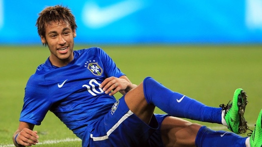 Brazil's Neymar, during the friendly soccer match against South Africa on March 5, 2014.