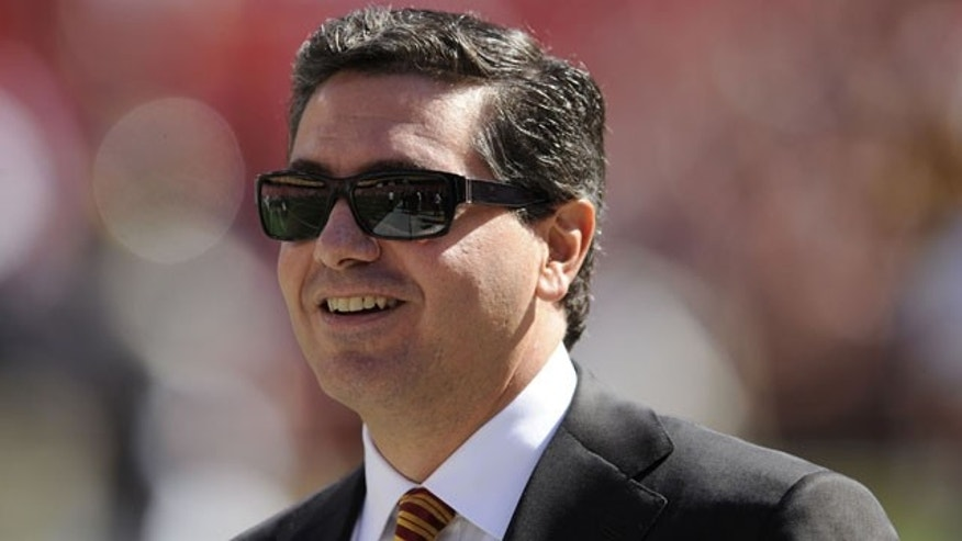 FILE - In this Oct. 12, 2008 file photo, Washington Redskins owner Daniel Snyder is seen before the St. Louis Rams NFL football game in Landover, Md. (AP)
