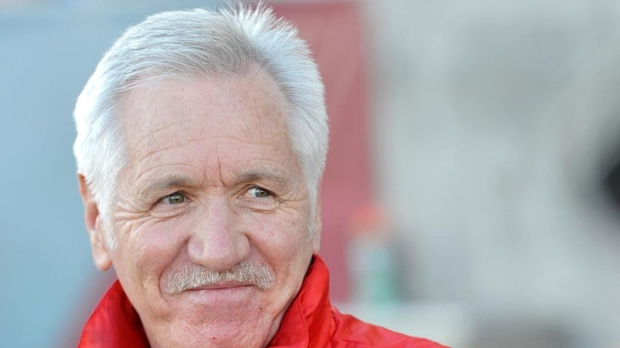 Tom Sermanni, U.S. women's soccer coach, looks on against China during the first half of an international friendly soccer match in Commerce City, Colo., on Sunday, April 6, 2014. U.S. Soccer fired Sermanni on Sunday, following a disappointing seventh-place finish last month at the Algarve Cup. The surprising move came just 16 months after he took over the program. (AP Photo/Jack Dempsey)