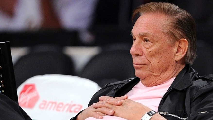 FILE:  Los Angeles Clippers team owner Donald Sterling watches his team play in Los Angeles.