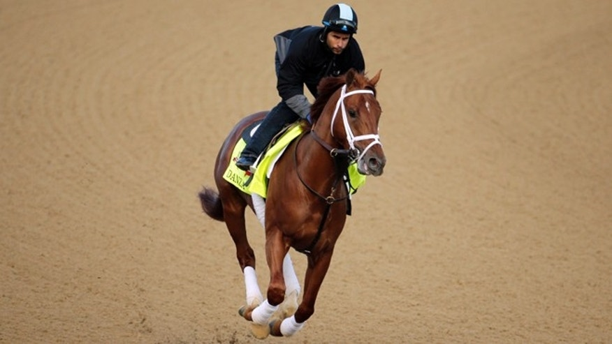 "May 1: Danza, who was named after the ""Who's the Boss"" star, out  for a morning workout at Churchill Downs."
