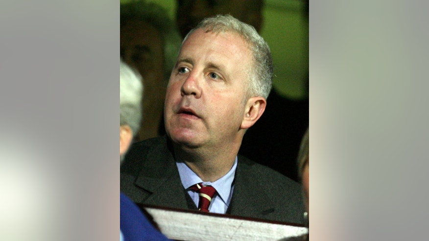 FILE - This is a Wednesday, Sept. 20, 2006 file photo of Aston Villa's American owner Randy Lerner as he takes his seat to watch his new club, during their English League Cup soccer match against  Scunthorpe United at Glanford Park, Scunthorpe, England. Aston Villa owner Randy Lerner said Monday May 12, 2014 that he is looking to sell the Premier League club. (AP Photo / Simon Dawson)*