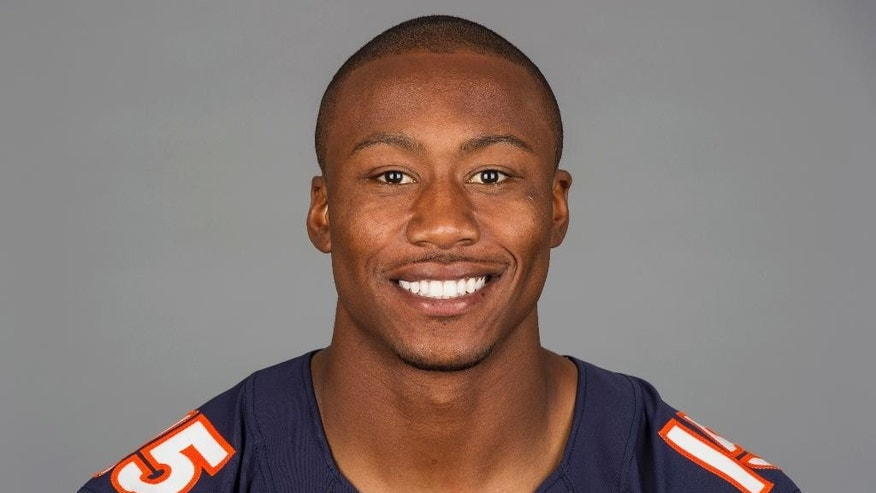 "FILE - This is a 2013 file photo showing Brandon Marshall of the Chicago Bears NFL football team. The Bears have agreed to terms with Pro Bowl wide receiver Brandon Marshall on a three-year contract extension. It is worth a reported $30 million, and Marshall's foundation tweeted Monday, May 19, 2014, that he was donating $1 million to the ""mental health community.""(AP Photo/File)"