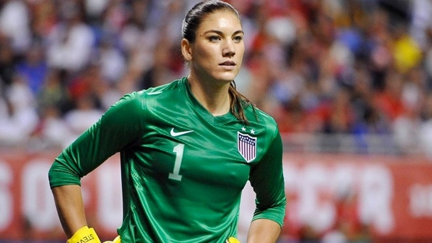 Oct. 20, 2013: United States goalkeeper Hope Solo pauses on the field during the second half of an international friendly women&#39&#x3b;s soccer match against Australia in San Antonio.