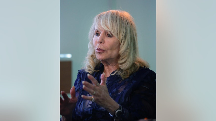 Shelly Sterling, wife of former Los Angeles Clippers owner Donald Sterling, speaks during an interview with The Associated Press, Thursday, Aug. 28, 2014, in Los Angeles. Shelly Sterling negotiated a landmark deal for $2 billion to sell the Clippers to Steve Ballmer, former CEO of Microsoft. (AP Photo/Jae C. Hong)
