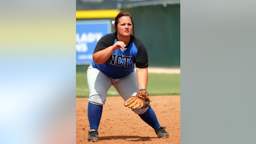 This undated photo released by North Central Texas College shows softball player Brooke Deckard in Gainesville, Texas. Deckard, 20,  was one of four teammates killed when an 18-wheel truck veered into oncoming traffic on a major interstate highway and crashed into the side of their team bus Friday night, Sept. 26, 2014, near Davis, Okla. (AP Photo/North Central Texas College)