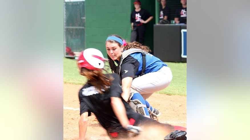 This undated photo released by North Central Texas College shows softball player Jaiden Pelton in Gainesville, Texas.  Pelton, 20, was one of four teammates killed when an 18-wheel truck veered into oncoming traffic on a major interstate highway and crashed into the side of their team bus Friday night, Sept. 26, 2014, near Davis, Okla. (AP Photo/North Central Texas College)