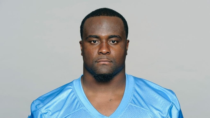 FILE - This is 2014 photo shows Shonn Greene of the Tennessee Titans NFL football team. Greene was arrested Friday, Oct. 24, 2014, for allegedly parking in a handicapped space and speeding away when an officer was issuing him a citation. Franklin, Tennessee police Sgt. Charles Warner says Greene was charged with driving on a suspended license, reckless driving, failure to stop/halt/frisk and illegal parking.  Greene was released on $2,000 bond. He is due in court Nov. 13. (AP Photo/File)