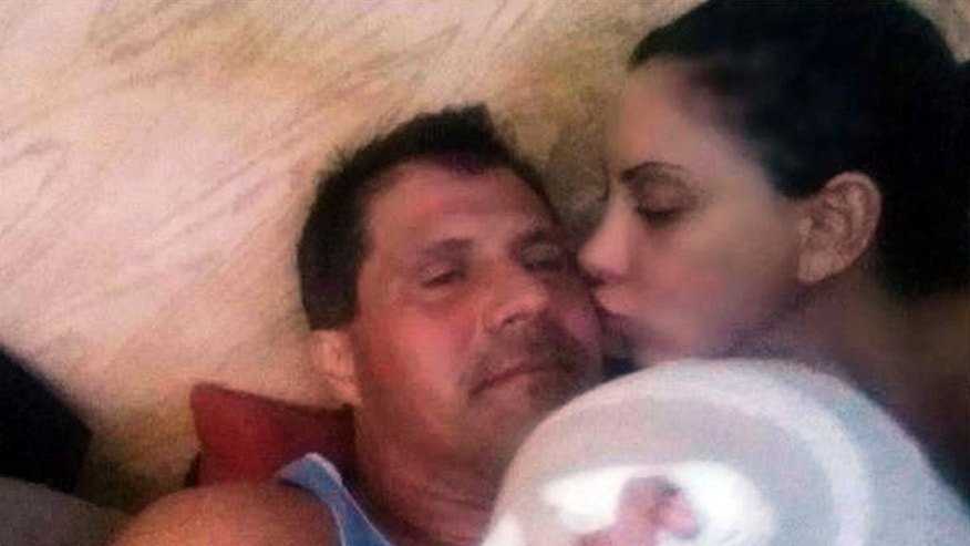 This Wednesday, Oct. 29, 2014 photo posted on Jose Canseco's Twitter page shows the former major league baseball player recovering at his Las Vegas home with his fiancee, actress and model Leila Knight, after Canseco shot himself in the finger Tuesday. His agent Jose Melendez says Canseco was resting at home Wednesday, and friends and family were hoping his finger would respond well to a surgery. Officers responded to a call of an accidental shooting Tuesday afternoon, and said the former Oakland Athletics outfielder told them he was cleaning his gun in the kitchen when it fired, shooting a finger on his left hand. (AP Photo/Courtesy Jose Canseco)