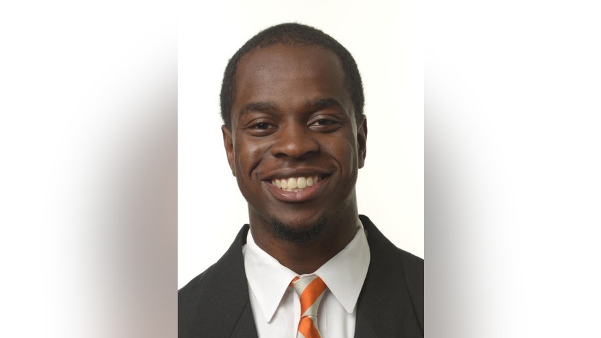 This undated photo provided by the University of Tennessee shows University of Tennessee defensive back Michael Williams. A police report says that Tennessee linebacker A.J. Johnson and cornerback Michael Williams are the subjects of a rape investigation. Knoxville police say no charges have been filed in the investigation of the incident at a Knoxville apartment. The university suspended Johnson and Williams on Monday, Nov. 17, 2014,  from all team-related activities.  (AP Photo/University of Tennessee via Knoxville News Sentinel)