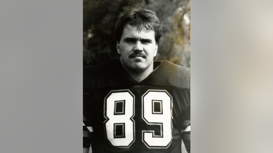 This undated photo provided by Baker University Sports Information shows Mike McCarthy when he played football at Baker University. McCarthy went from Baker to Fort Hays State and coached the linebackers there. After two years seeing the game from the other side of the ball, he went back on offense at Pitt under head coach Mike Gottfried and quarterback guru Paul Hackett. Stints as an NFL assistant in Kansas City, Green Bay, New Orleans and San Francisco followed before McCarthy returned to Green Bay as the boss in 2006. (AP Photo/Baker University Sports Information)