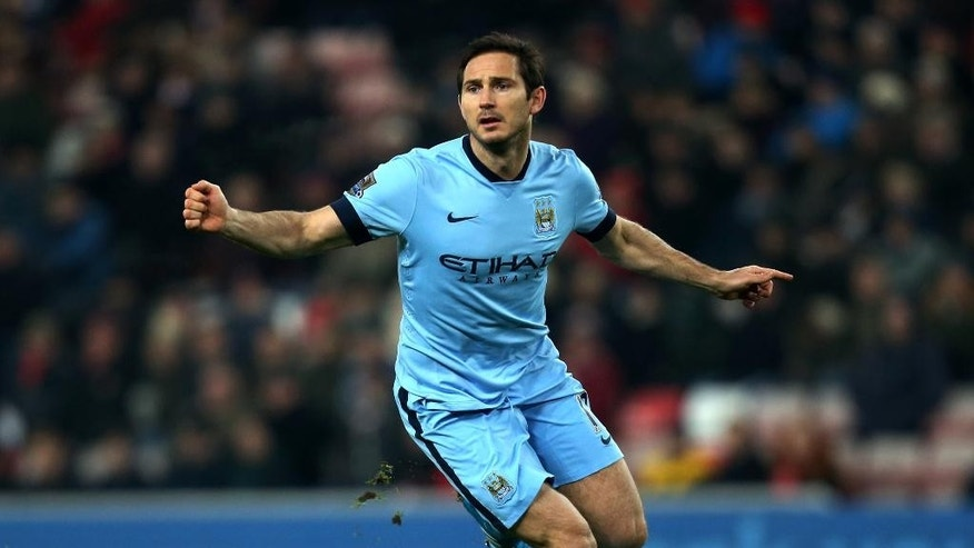 Manchester City's Frank Lampard during their English Premier League soccer match against Sunderland at the Stadium of Light, Sunderland, England, Wednesday, Dec. 3, 2014. (AP Photo/Scott Heppell)
