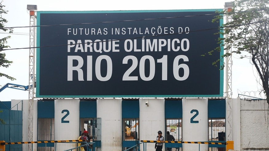 Entrance to Olympic Park, the primary set of venues being built for the Rio 2016 Olympic Games.