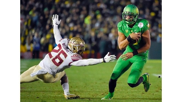 Oregon crushes Florida St. in Rose Bowl, advances to playoff title game