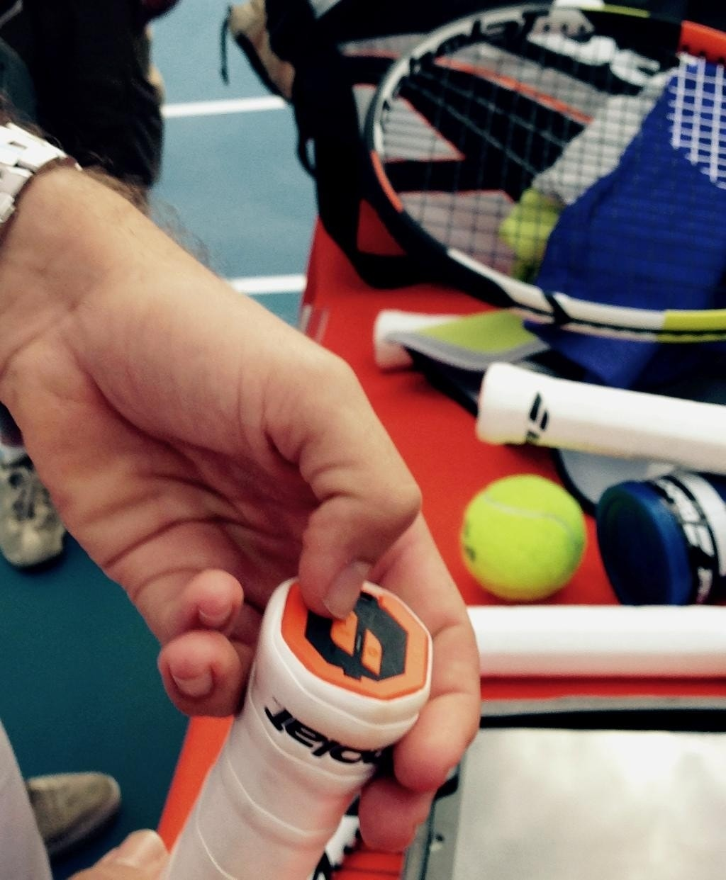 Rafael Nadal's new tennis racket comes with a power switch and tells him how he played