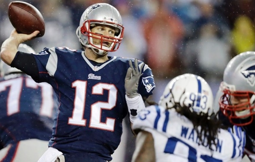 New England Patriots quarterback Tom Brady, shown here passing what may be an illegally-deflated football, will speak on the issue Thursday afternoon. (AP)