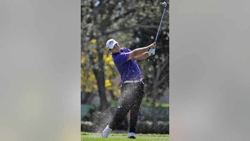 Patrick Reed hits his tee shot on the 17th hole during the third round of the Valspar Championship golf tournament Saturday, March 14, 2015, at Innisbrook in Palm Harbor, Fla. (AP Photo/Chris O'Meara)