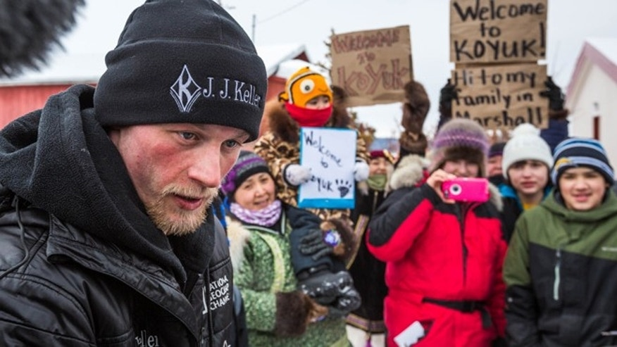 March 16: Dallas Seavey speaks after being the first musher to reach the Koyuk, Alaska, checkpoint during the Iditarod Trail Sled Dog Race. He went on to win the race.