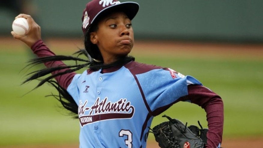 Teen pitching phenom Mo'ne Davis became the first girl to win a game in the Little League World Series. (AP)