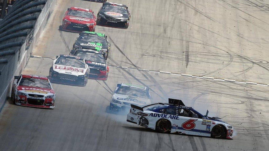 Kyle Larson drives during a NASCAR Sprint Cup series auto race, Sunday, May 31, 2015, at Dover International Speedway in Dover, Del. Larson came in third. (AP Photo/Nick Wass)