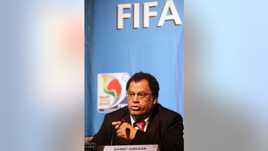 June 12, 2009 - FILE photo of Danny Jordaan at a FIFA and Local Organizing Committee press conference, in Johannesburg, South Africa. A South African newspaper published a 2007 letter linking the country's chief World Cup organizer to a $10 million payment made to projects linked to Jack Warner, then a FIFA executive and now a suspect in a corruption probe.