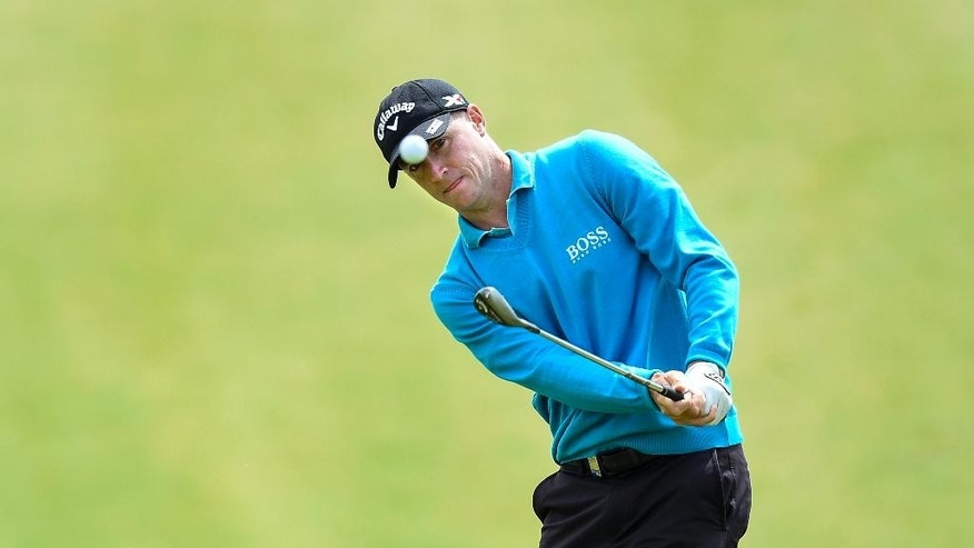 Sweden's Alex Noren in action during the Nordea Masters at the PGA National golf course outside Malmo, Sweden, Sunday June 6, 2015.  Noren won the Nordea Masters Sunday on eleven-under-par. (Anders Wiklund / TT via AP)  SWEDEN OUT